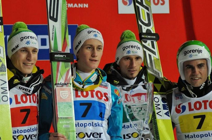 Drużyna skoczków narciarskich Słowenii /AFP