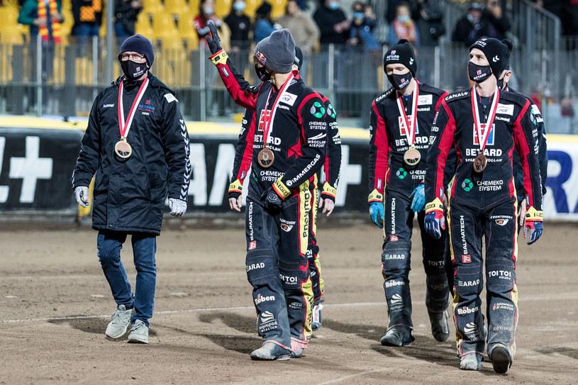 Drużyna Sparty z brązowymi medalami za sezon 2020 /Wojciech Tarchalski /Newspix