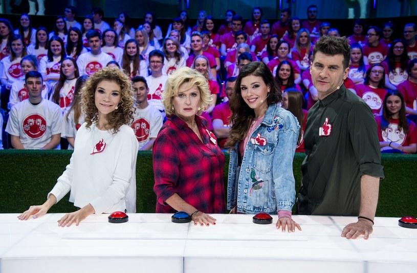 Drużyna Tomasza Kammela: Maja Bohosiewicz, Ewa Kasprzyk i Klaudia Halejcio /Jan Bogacz /TVP