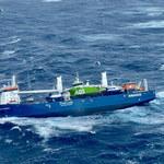 Dryfujący statek na Morzu Północnym. Załoga ewakuowana