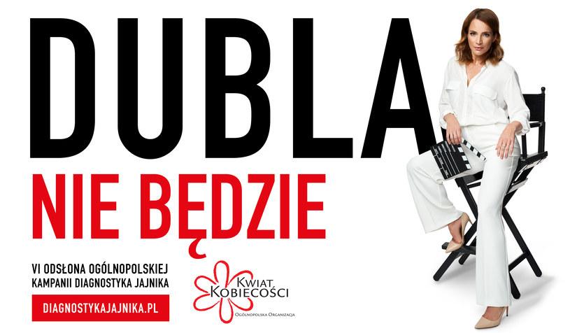 Dubla nie będzie - kampania przeciwdziałaniu rakowi jajnika z udziałem Anny Dereszowskiej /materiały prasowe