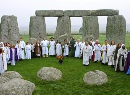 Duchowi spadkobiercy celtyckich druidów w akcji /AFP