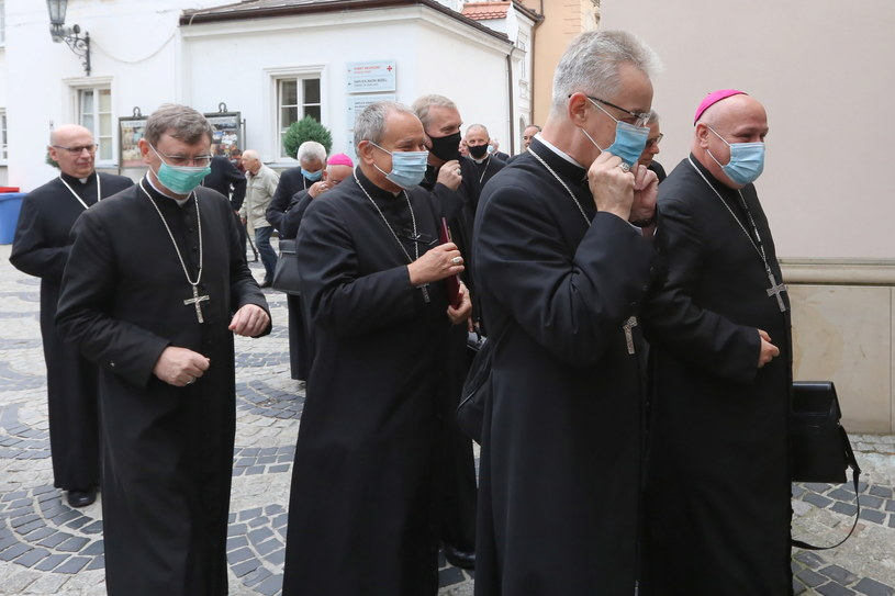 Duchowni na 386. Zebraniu Plenarnym KEP na Jasnej Górze /Waldemar Deska /PAP