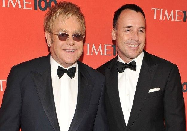 Dumni rodzice Elton John i David Furnish fot. Theo Wargo /Getty Images/Flash Press Media