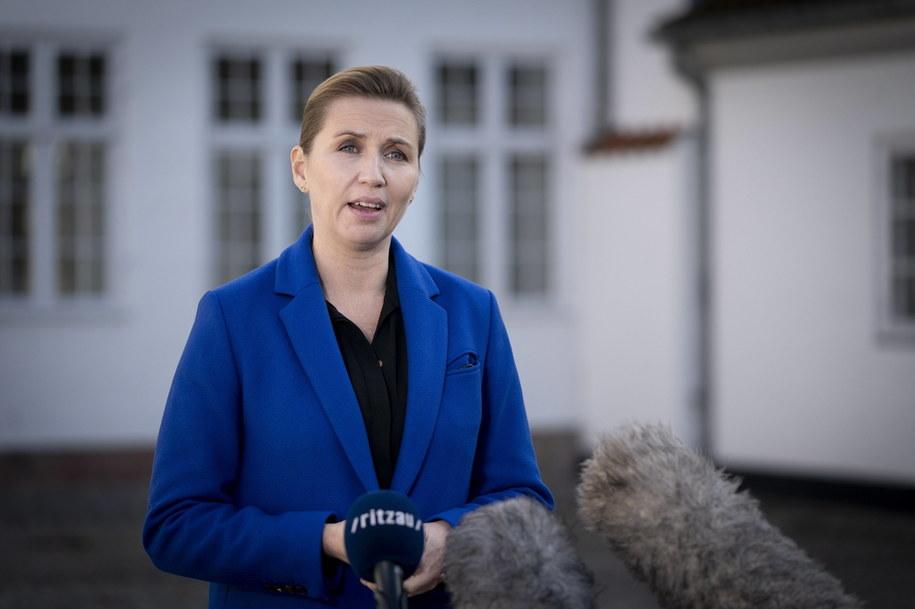 Duńska premier Mette Frederiksen /LISELOTTE SABROE    /PAP/EPA