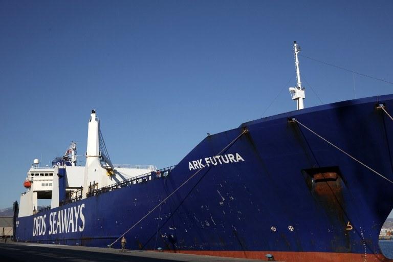Duński okręt wojenny Esbern Snare /PAP/EPA