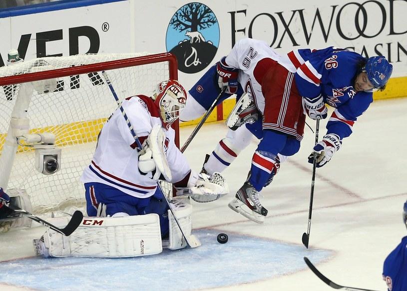 Dustin Tokarski świetnie spisał się w meczu z New York Rangers /AFP
