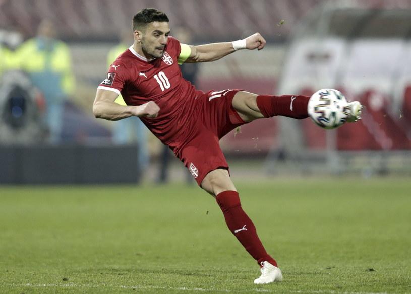 Duszan Tadić był bliski zdobycia efektownego gola po uderzeniu z powietrza /Andrej Cukić /PAP/EPA