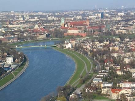 Duża część Krakowa podczas powodzi może zostać zalana /RMF