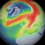 Duża dziura ozonowa nad Arktyką