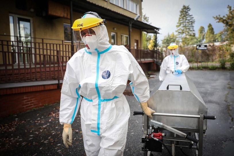 Duża liczba zgonów z powodu COVID-19 wynika z późnego kontaktu z lekarzem - twierdzi wirusolog prof. Włodzimierz Gut / Leszek Szymański    /PAP