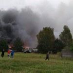 Duży pożar w Mysłowicach: 800 metrów kwadratowych w ogniu