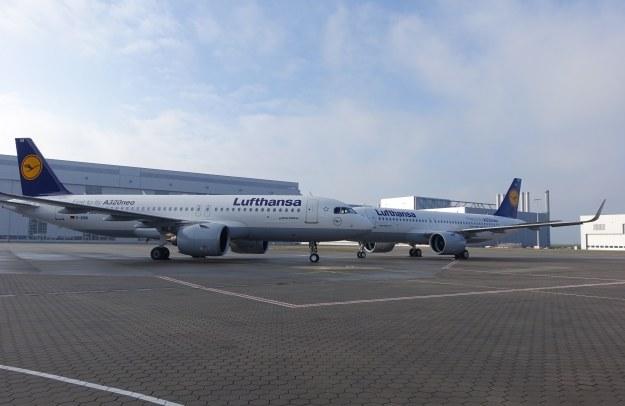 Dwa Airbusy A320neo dla linii Lufthansa /INTERIA.PL