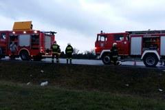 Dwa auta dostawcze zderzyły się na obwodnicy Radymna. Dwie osoby ranne