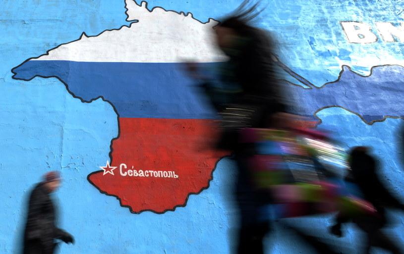Dwa lata temu na Krymie niezgodnie z prawem zorganizowano referendum /AFP