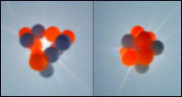 Dwa modele węgla atomowego 12C Źródło: IFJ PAN, Tentaris /RMF24