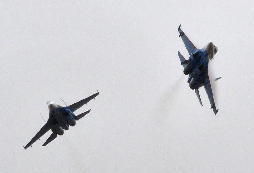 Dwa myśliwce Sukhoi SU-27 (zdjęcie ilustracyjne) /AFP