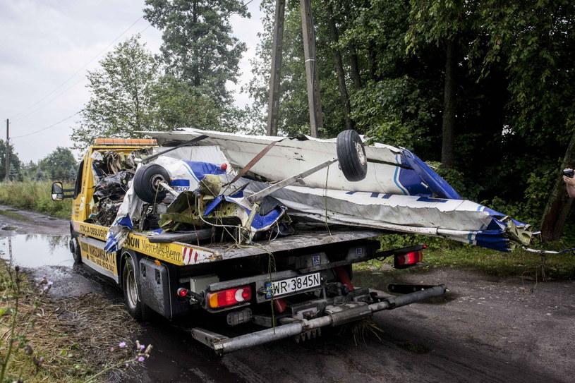 Dwa niewielkie samoloty zderzyły się w powietrzu w okolicy Radomia /Michał Walczak /PAP