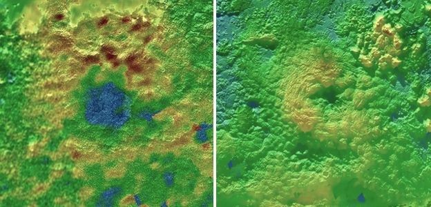 Dwa potencjalne kriowulkany na Plutonie /NASA