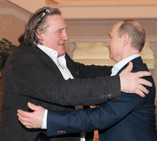 Dwaj przyjaciele: Depardieu i Putin / MIKHAIL KLIMENTYEV / POOL    /PAP/EPA