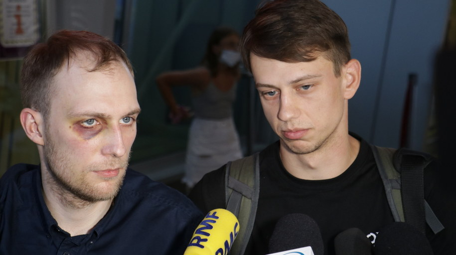 Dwaj z Polaków torturowanych na Białorusi tuż po powrocie do kraju /Jakub Rutka /RMF FM