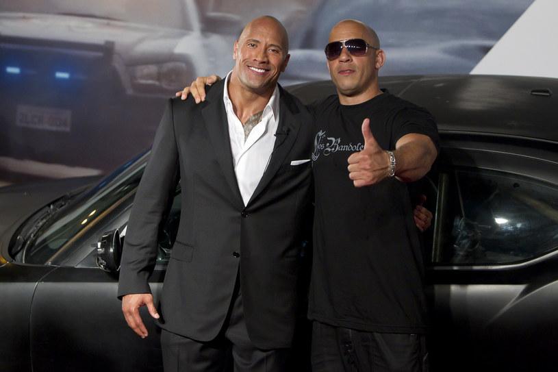 "Dwayne Johnson i Vin Diesel na premierze filmu ""Szybcy i wściekli 5"" (2011) /Buda Mendes/LatinContent /Getty Images"