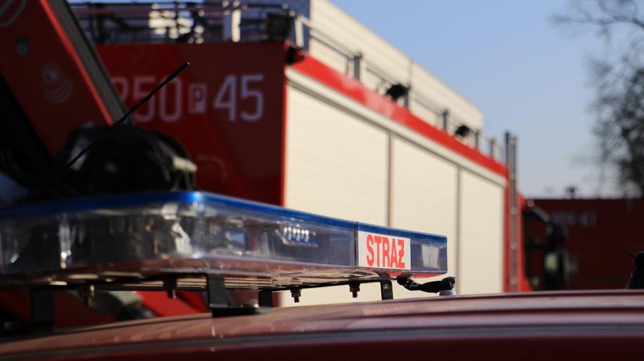 Dwie osoby zostały ranne w zderzeniu autokaru i samochodu osobowego w Grąblinie w Wielkopolsce /Michał Dukaczewski /RMF FM