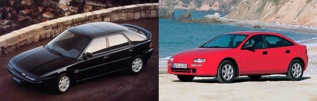 Dwie pierwsze generacje 323F: BG (z lewej, 1989-1994) i BA (z prawej, 1994-1998) /Mazda