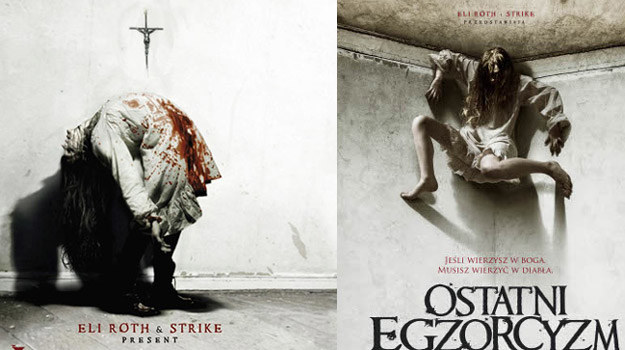 """Dwie wersje plakatu """"Ostatniego egzorcyzmu"""". Zakazany - po lewej. /materiały prasowe"""