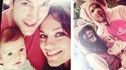 """""""Dwóch i pół"""": Mila Kunis, Ashton Kutcher i pierwsze zdjęcie z córką"""