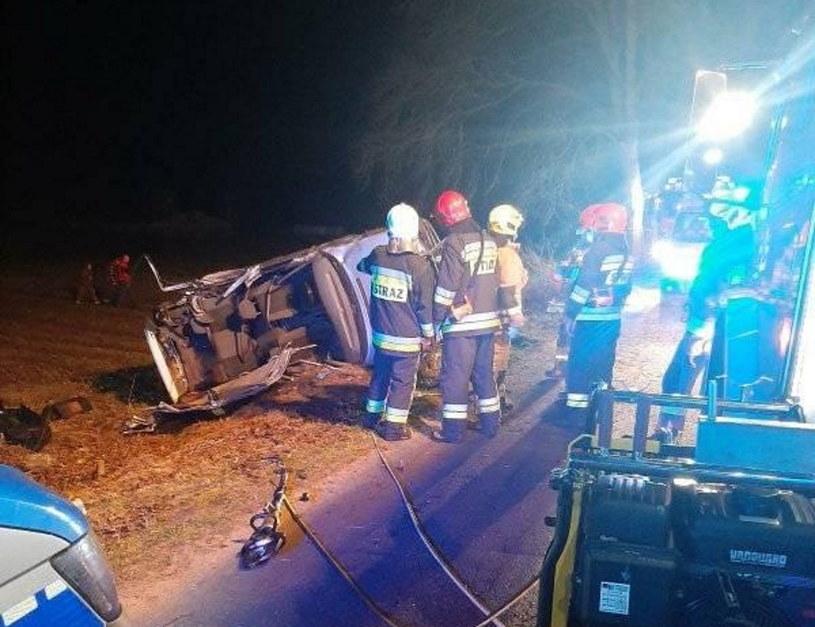 Dwoje nastolatków zginęło w wypadku na Warmii /Ochotnicza Straż Pożarna w Barczewie  /facebook.com