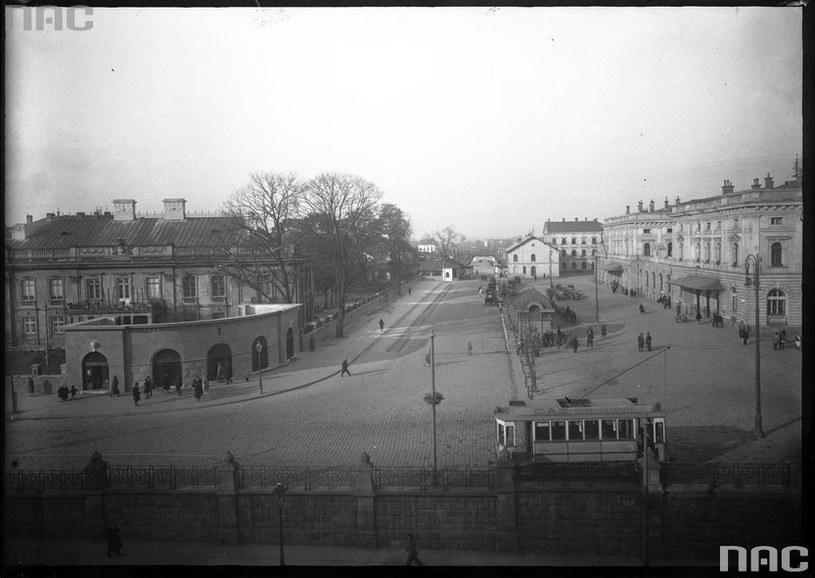 Dworzec Główny w roku 1927 /Z archiwum Narodowego Archiwum Cyfrowego