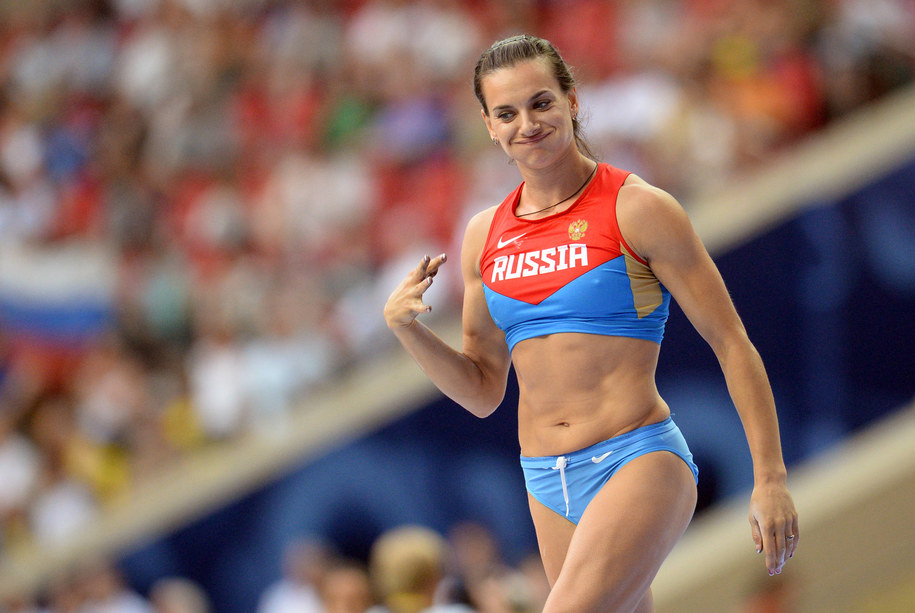 Dwukrotna mistrzyni olimpijska w skoku o tyczce Jelena Isinbajewa /BERND THISSEN /PAP/EPA