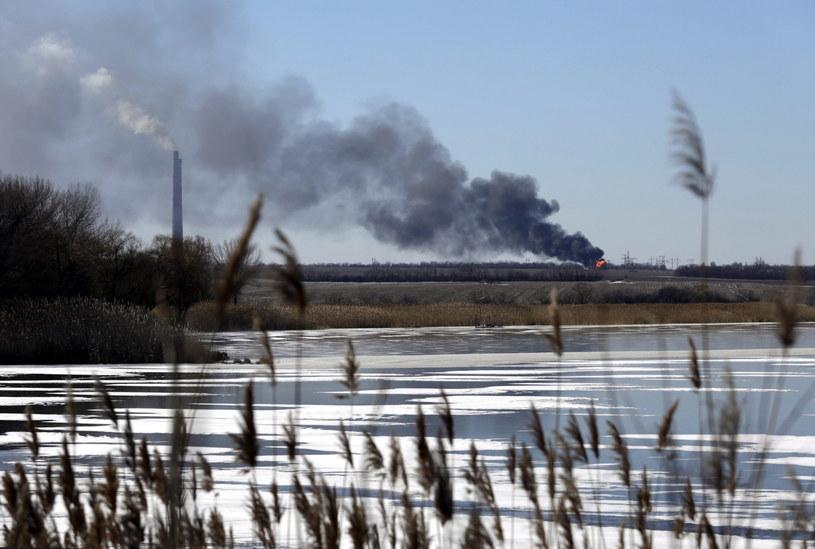 Dym nad Debalcewem /PAP/EPA