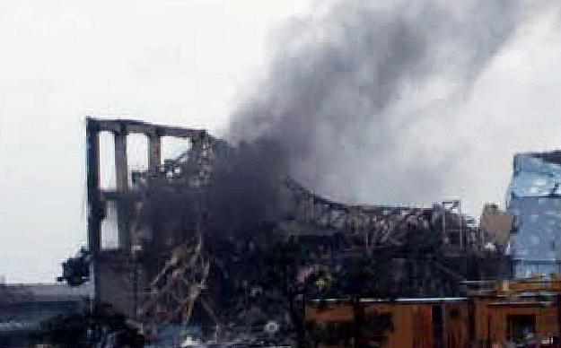 Dym nad elektrownią Fukushima /AFP