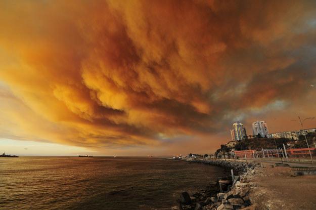 Dym nad Valparaiso fot. Alberto Miranda San Martin /AFP