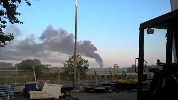 Dym widać było nawet z okolicznych miejscowości /Gorąca Linia RMF FM /Gorąca Linia RMF FM