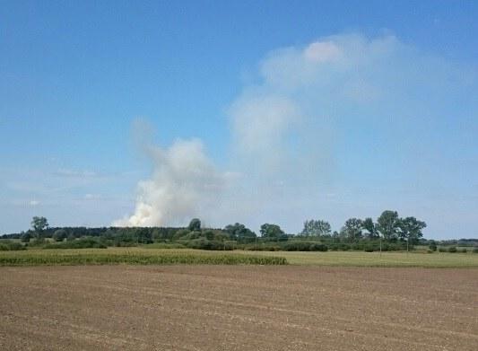 Dym widoczny jest z daleka /Gorąca Linia RMF FM /
