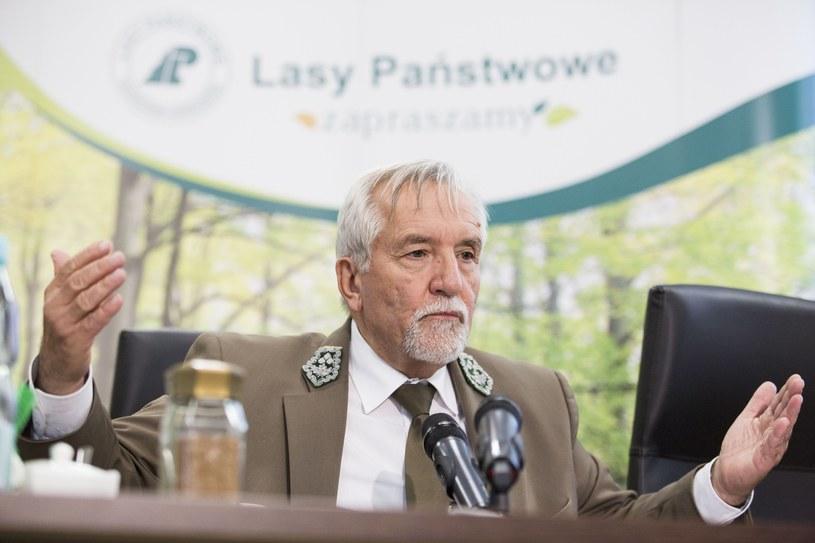 Dyrektor Generalny Lasów Państwowych Konrad Tomaszewski /Andrzej Hulimka/Reporter /Reporter