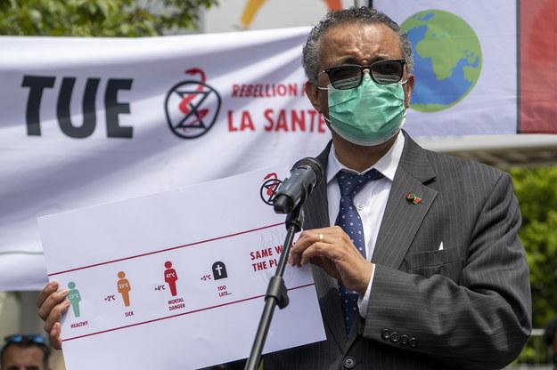Dyrektor generalny Światowej Organizacji Zdrowia (WHO) Tedros Adhanom Ghebreyesus /MARTIAL TREZZINI /PAP/EPA