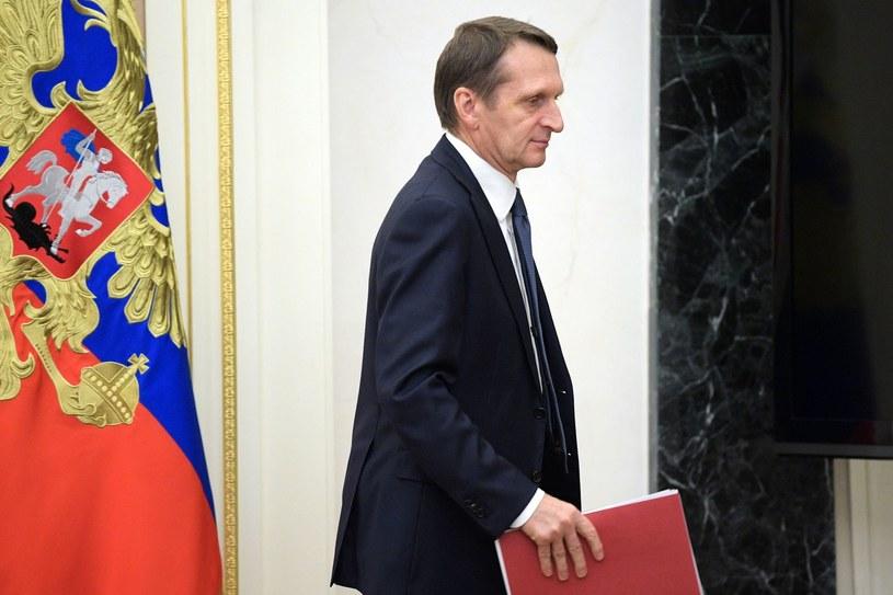 Dyrektor rosyjskiej Służby Wywiadu Zagranicznego (SWR) Siergiej Naryszkin