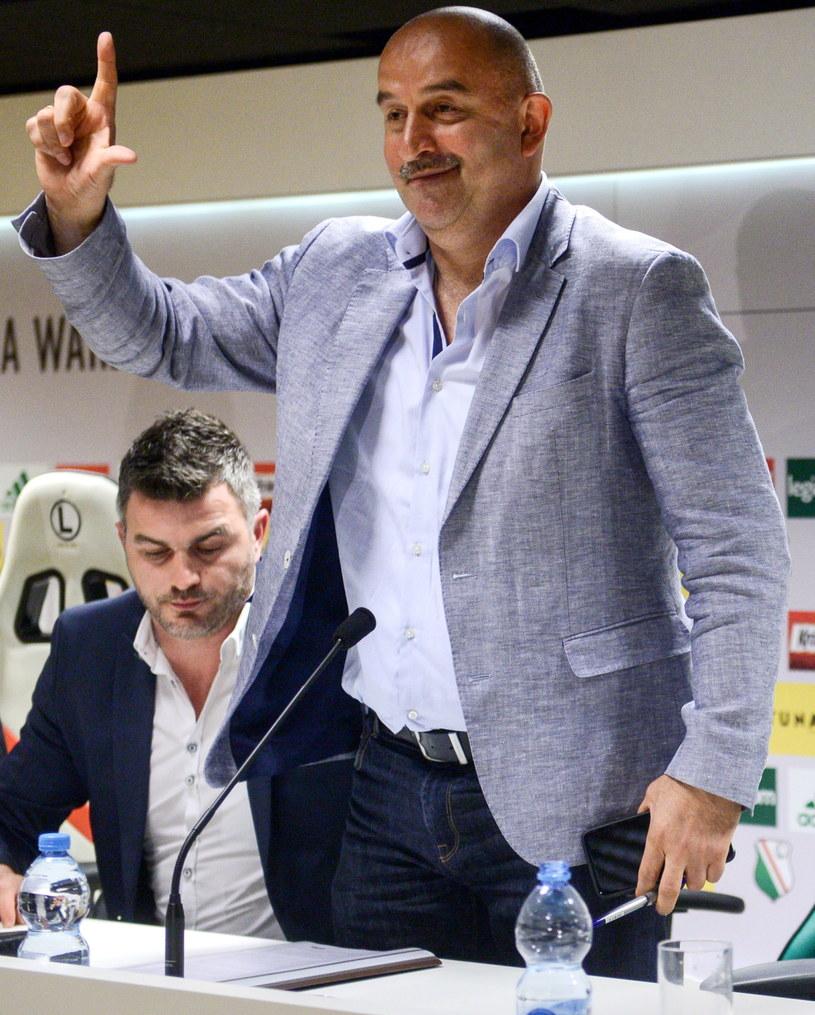 Dyrektor sportowy Legii Warszawa Michał Żewłakow (L) i były trener klubu Stanisław Czerczesow /Jakub Kamiński   /PAP