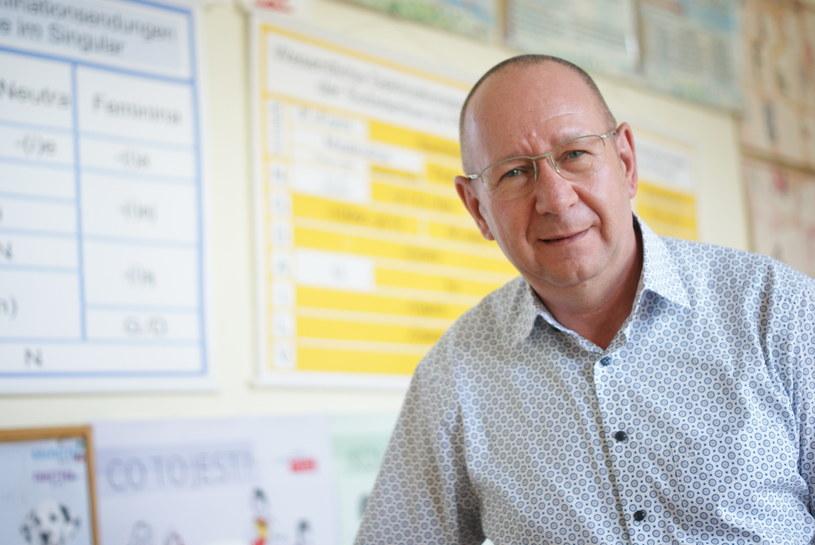 Dyrektor szkoły Torsten Kleefeld. Fot. Agnieszka Hreczuk /