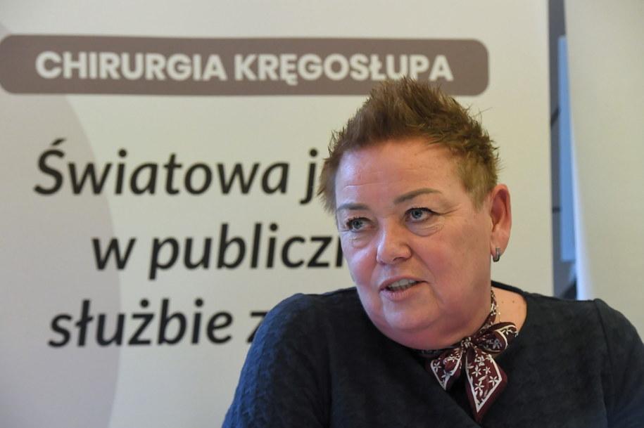 Dyrektor Szpitala Bielańskiego Dorota Gałczyńska-Zych /Andrzej Lange /PAP