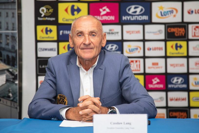 Dyrektor wyścigu Tour de Pologne Czesław Lang /Jacek Bednarczyk   /PAP