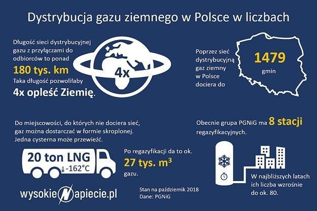 Dystrybucja gazu ziemnego w Polsce. Rys. Wysokienapiecie.pl /Informacja prasowa
