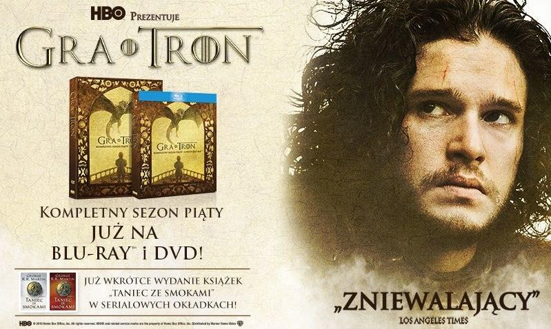 "Dystrybutorem 5. sezonu ""Gry o tron"" na płytach Blu-ray i DVD jest Galapagos Films /materiały dystrybutora"