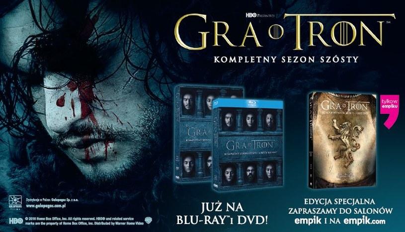 "Dystrybutorem 6. sezonu ""Gry o tron"" na płytach DVD i Blu-ray jest Galapagos Films /materiały dystrybutora"