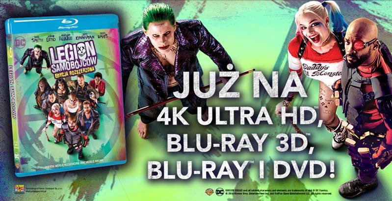 "Dystrybutorem filmu ""Legion samobójców"" na płytach 4K Ultra HD Blu-ray, Blu-ray 3D, Blu-ray i DVD jest Galapagos Films /materiały dystrybutora"