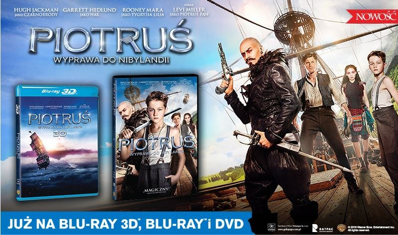 """Dystrybutorem filmu """"Piotruś. Wyprawa do Nibylandii"""" na płytach Blu-ray i DVD jest Galapagos Films. /materiały dystrybutora"""
